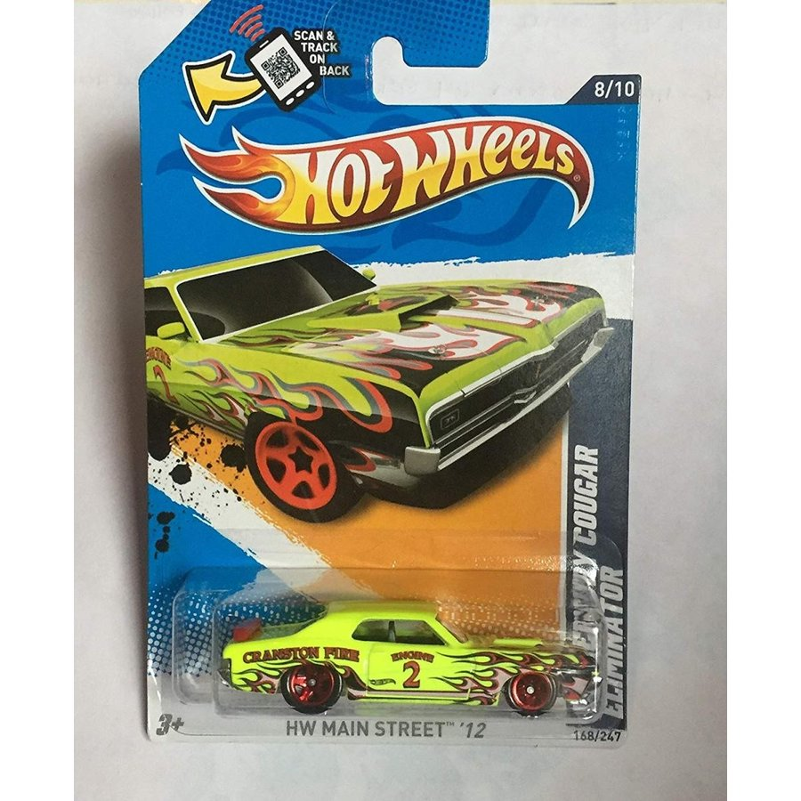 Hot Wheels Lime 緑 69 1969 Mercury Cougar Eliminator Cranston Fire 2012 Hw Main Street 12 168/247 8/10