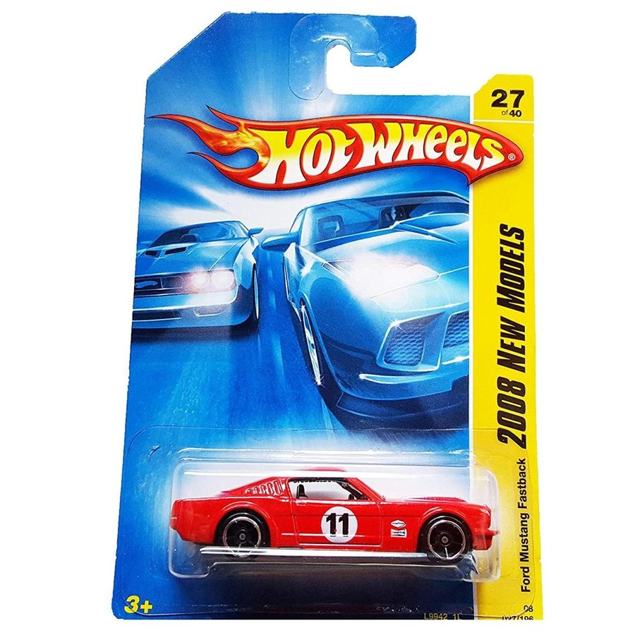 Hot Wheels 2008 027 New Models Ford Mustang Fastback 赤 2008 27