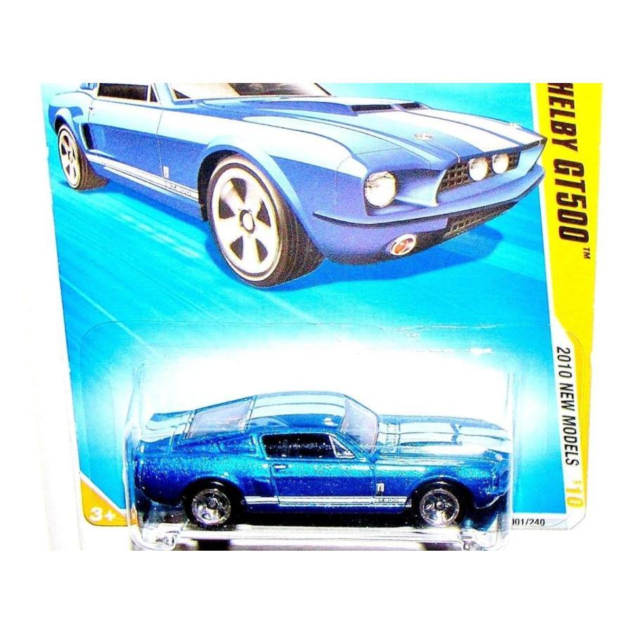 ホットウィールHot Wheels 2010-001 New Models #1 青 '67 Shelby GT500 1:64 Scale