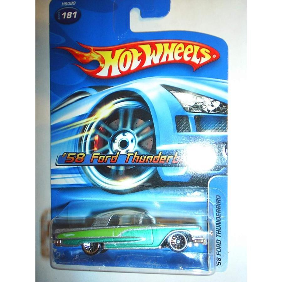 2005 Hotwheels #181 58 Ford Thunderbird (緑 & 銀)
