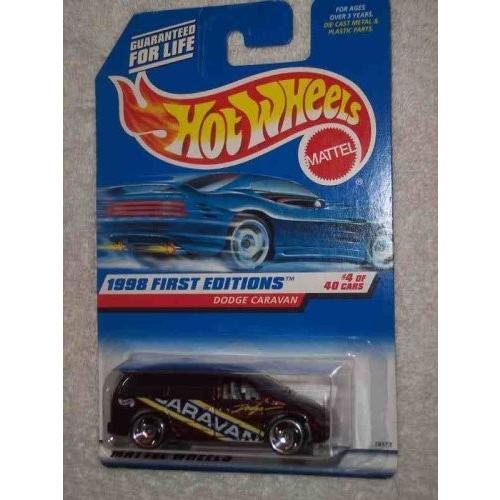1998 First Editions #4 Dodge Caravan Razor Wheels 青 Card #633 Collectible Collector Car Mattel Hot Wheels