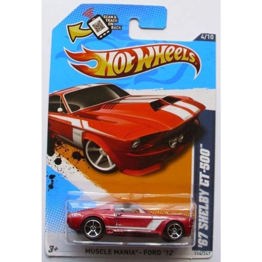 ホットウィールHOT WHEELS 2012 Muscle Mania - Ford '67 SHELBY GT-500 metallic dark 赤