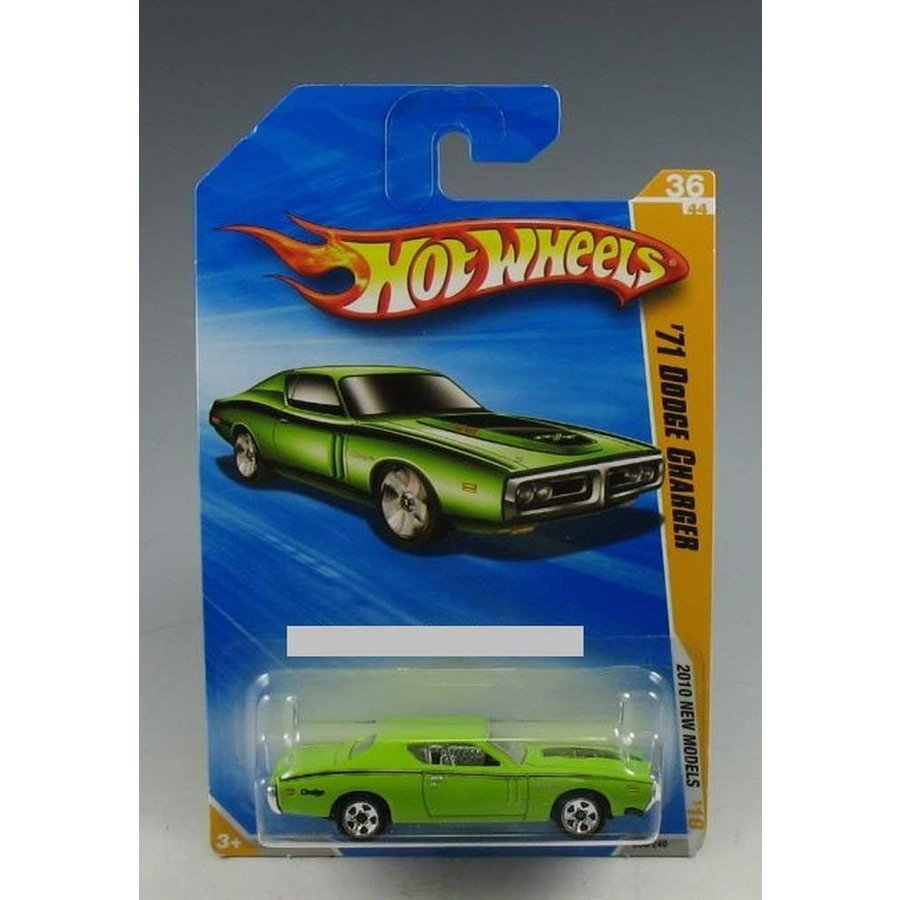 Hot Wheels 2010 New Models 36 of 44 緑 '71 Dodge Charger
