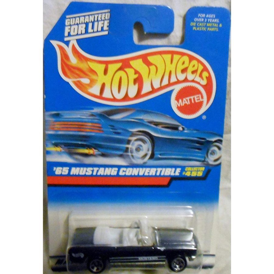 Mattel Hot Wheels 1998 1:64 Scale 黒 1965 Ford Mustang Convertible Die Cast Car Collector #455