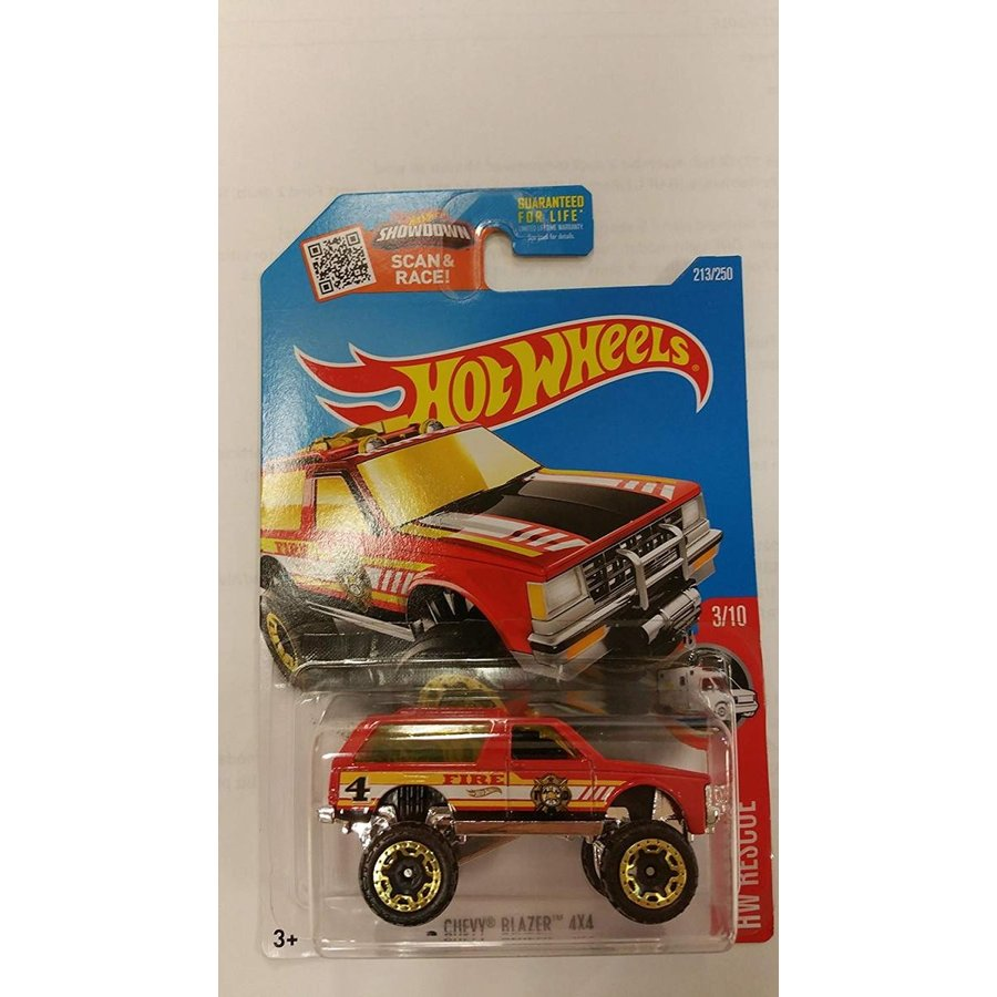 Hot Wheels 2016 HW Rescue Chevy Blazer 4X4 213/250, 赤