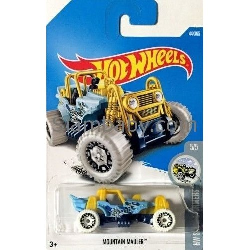 Hot Wheels 2017 HW Snow Stormers Mountain Mauler 44/365, Light 青 and 黄