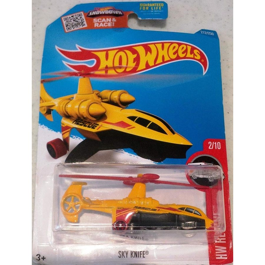 Hot Wheels, 2016 HW Rescue, Sky Knife Helicopter [黄] #212/250