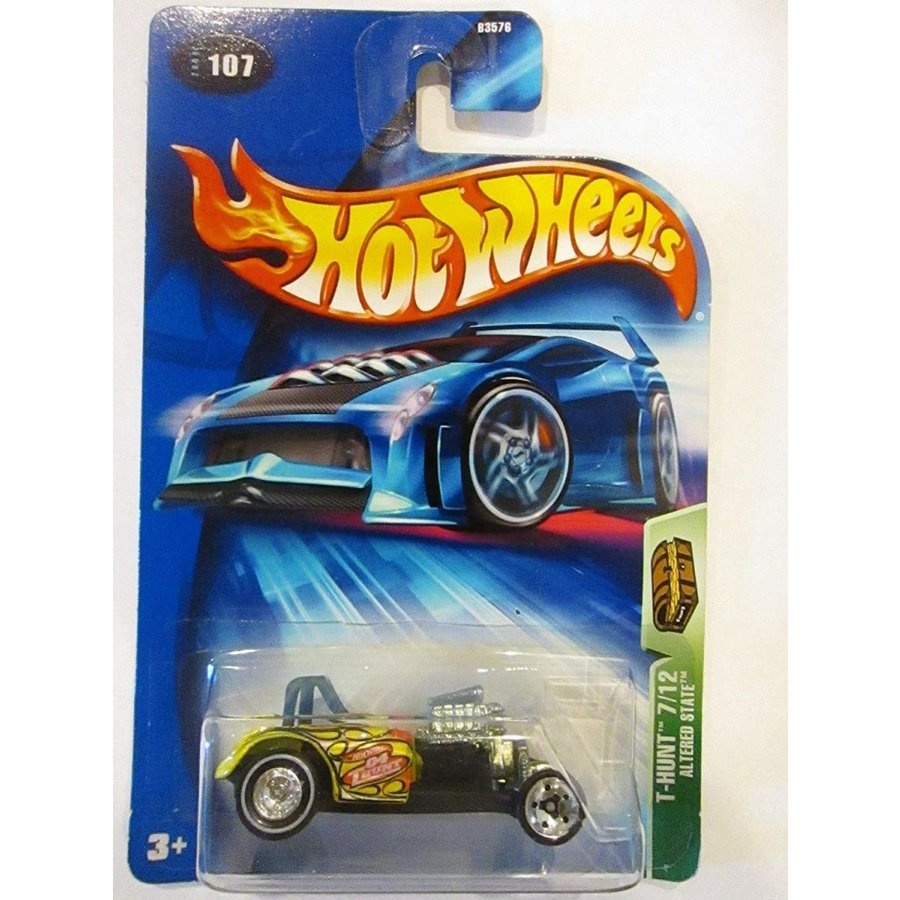 Hot Wheels 2004 Treasure Hunt 黄 Alte赤 State 7/12 #107 Limited Edition 1:64 Scale Collectible Die Cast Car