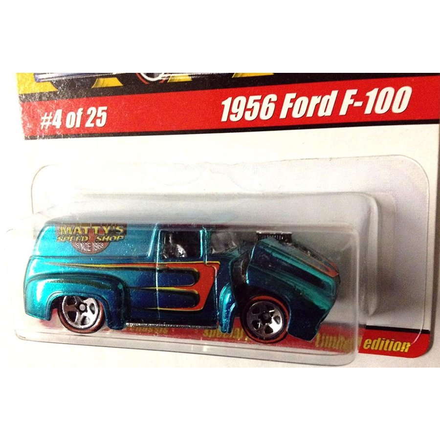 1956 Ford F-100 / 青-緑 / HOT WHEELS CLASSICS Series 1 / #4 OF 25 / 1:64 Scale Die-Cast Collectible / 2004