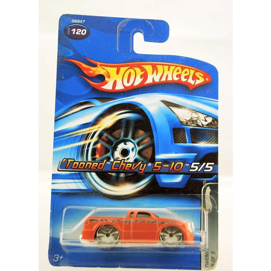 Hot Wheels 2005-120 Twenty + Series Tooned Chevy S-10 Copper Paint 1:64 Scale