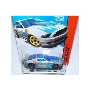 2014 Hot Wheels '13 Ford Mustang GT 銀 and 青 161/250 HW RACE Track Aces 50th Year Mustang Anniversary