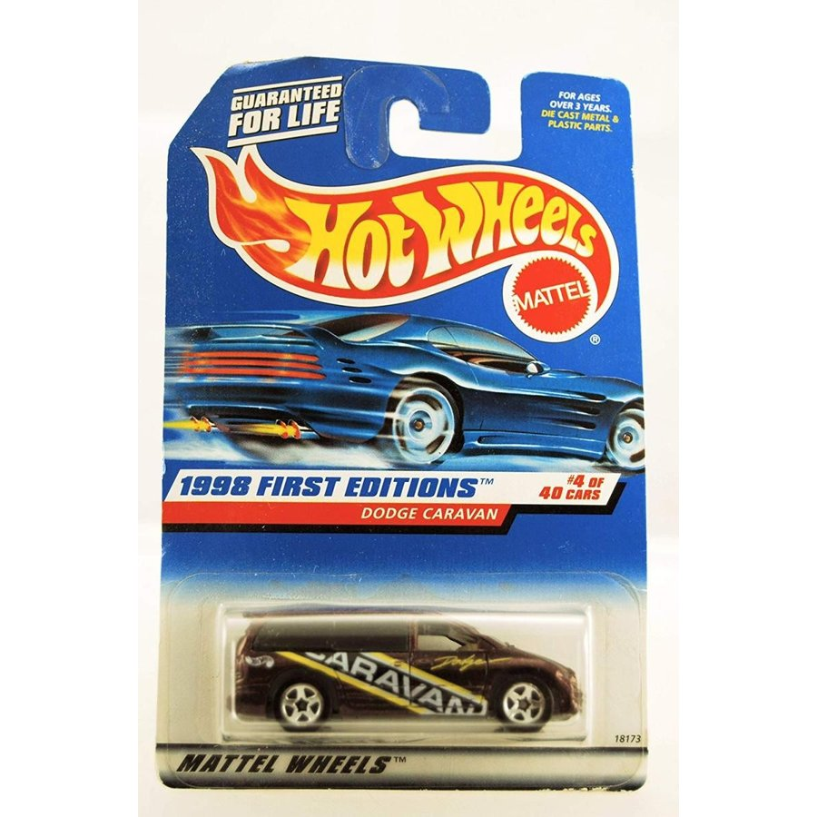 1:64 Scale Hot Wheels - 1998 First Editions - Dodge Caravan - 紫の Custom Paint - #4 of 40 Cars - Collector #633 - Limited Editi