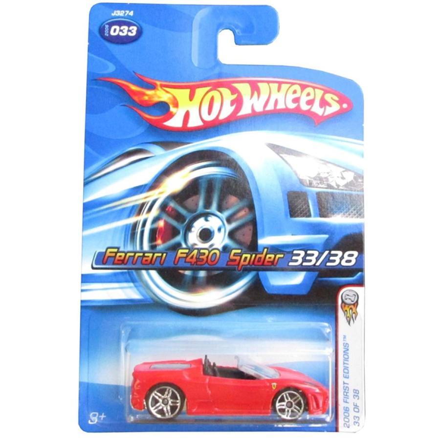 ホットウィール2006 First Editions -#33 Ferrari F430 Spider 赤 #2006-33 Collectible Collector Car Mattel Hot Wheels