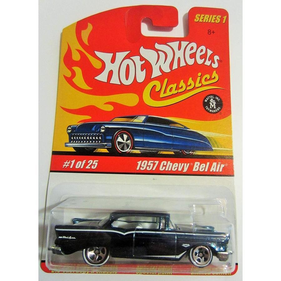 Hot Wheels Classics Series 1 - Dark 青/黒 1957 Chevy Bel Air 1 of 25