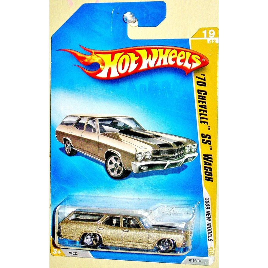 Hot wheels 2009 New models Tan/ゴールド 1970 Chevelle SS Wagon 1:64 Scale