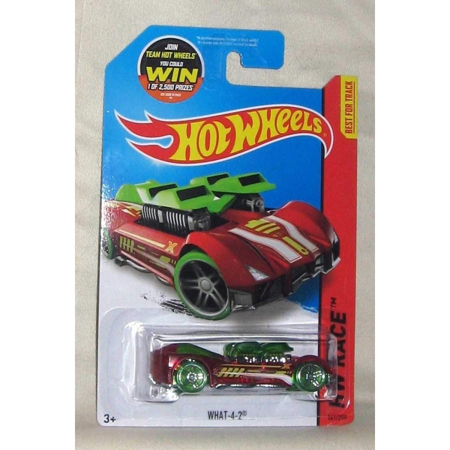 Hot Wheels, 2015 HW Race, What-4-2 [Translucent 赤] #141/250