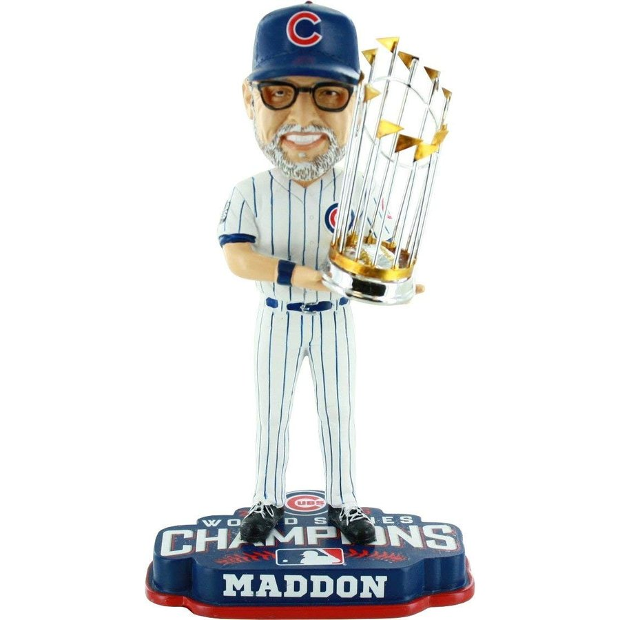 8 Inches FOCO MLB Chicago Cubs Joe Maddon Unisex Maddon J. #70 2016 World Series Champions 8