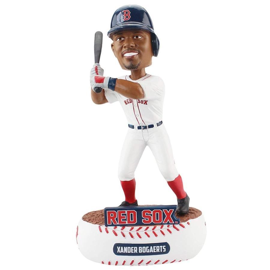 One Size FOCO MLB Boston 赤 Sox Bogaerts X. #2 Baller Bobble, Team Color, One Size