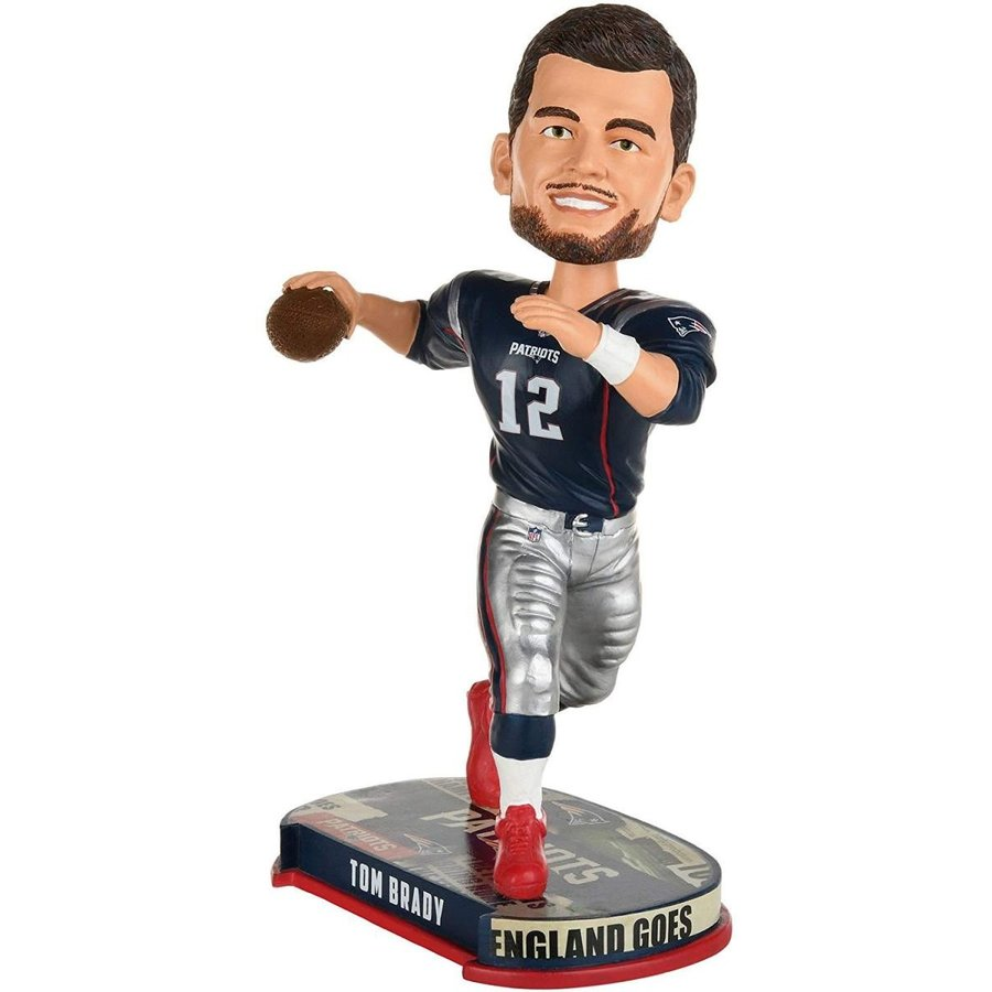 ボブルヘッドForever Collectibles New England Patriots Tom Brady #12 Headline Bobblehead