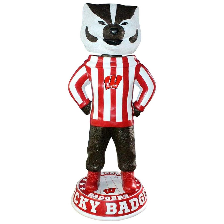 ボブルヘッドForever Collectibles Bucky Badger Wisconsin Badgers Limited Edition Rare 3 Foot Bobblehead
