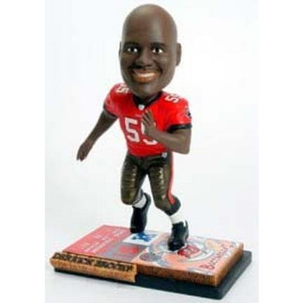One Size Forever Collectibles NFL Tampa Bay Buccaneers Mens Tampa Bay Buccaneers Derrick Brooks Ticket Base Bobblehead, Team Color