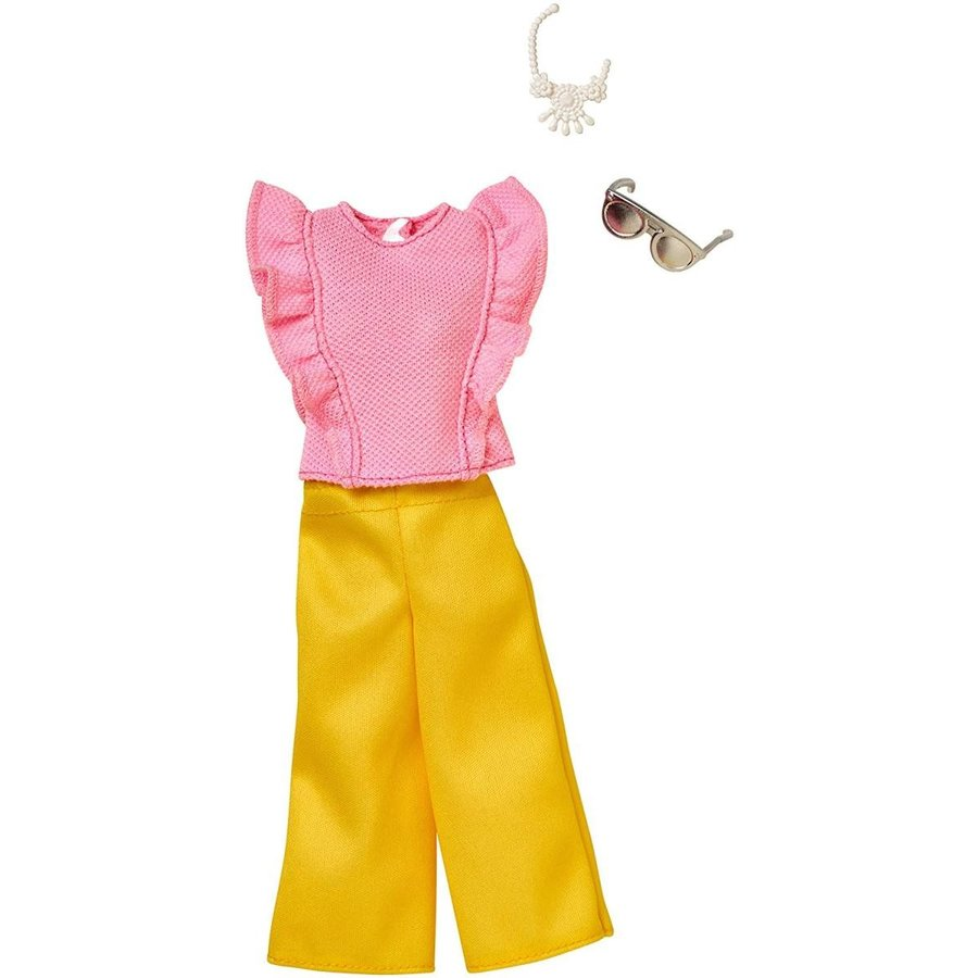 Barbie Complete Looks ピンク Top & 黄 Bottoms Fashion Pack