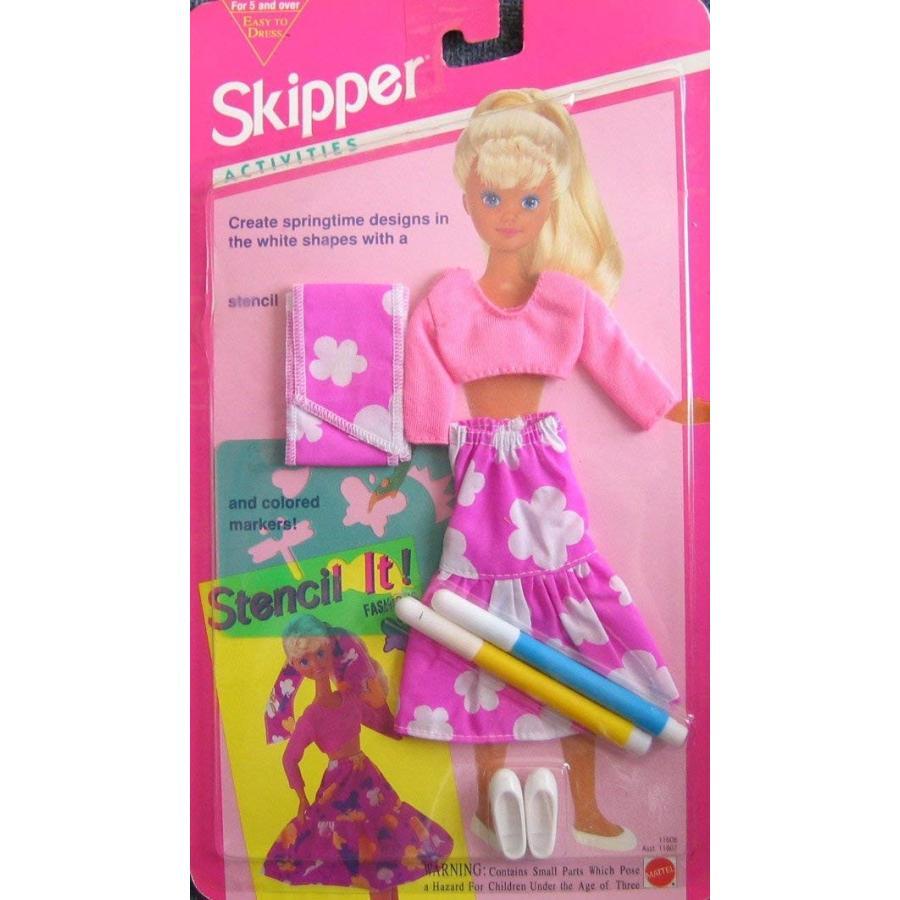 バービーBarbie Skipper Activities Stencil It Fashion