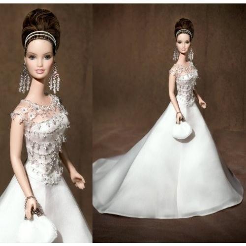 バービーBadgley Mischka Bride Barbie Barbie Figure Doll 1/6