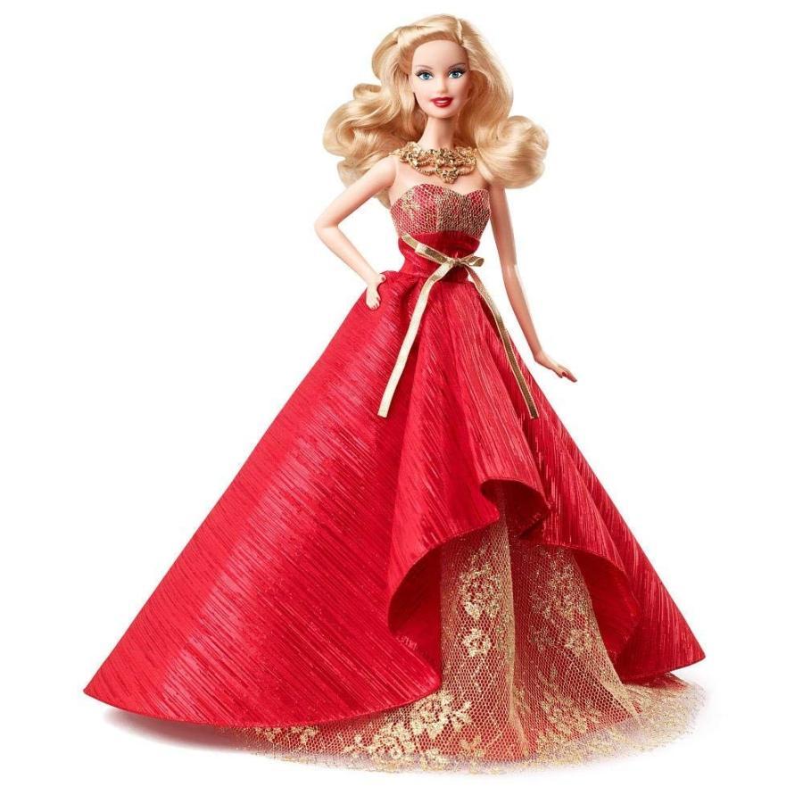 バービーMattel 2014 Holiday Barbie Doll Blonde 赤 Gown Collector's Barbie