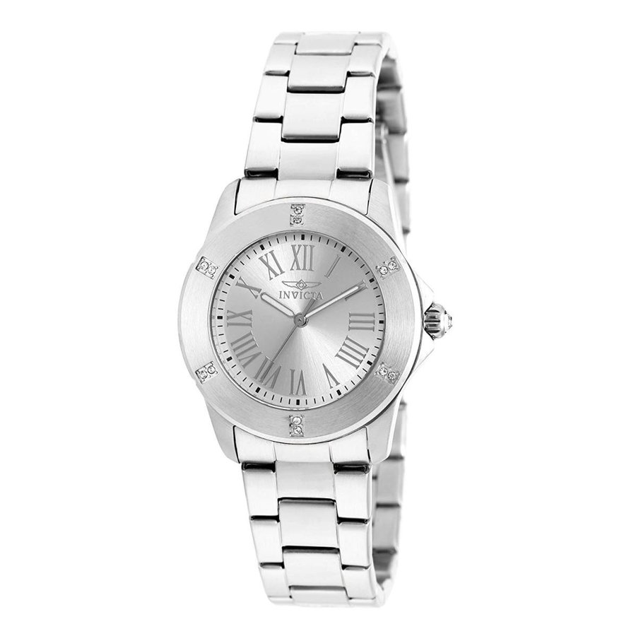当季大流行 Invicta Women's Angel Quartz Watch with Stainless-Steel Strap, Silver, 18 (Model: 19255), VICTORIA (ヴィクトリア) 4b923856