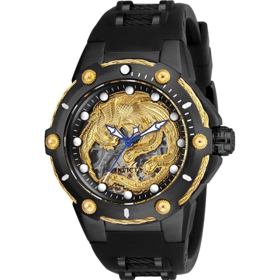 【期間限定送料無料】 26384 - INVICTA Bolt Lady 40mm Stainless Steel Black Black+Gold dial M2761-2A(S.S.) Mechanical, 大型観葉植物と造花の専門店Gstyle e71dd9e4