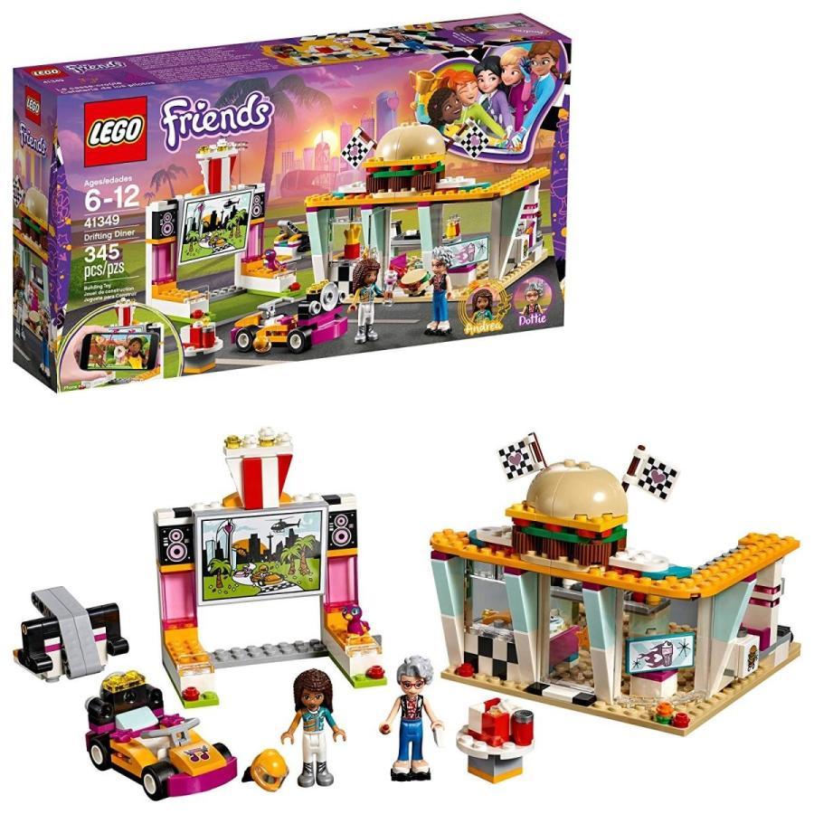 レゴLEGO Friends Drifting Diner 41349 Race Car and Go-Kart Toy Building Kit for Kids, Best Creative Gift for Girls and Boys (345