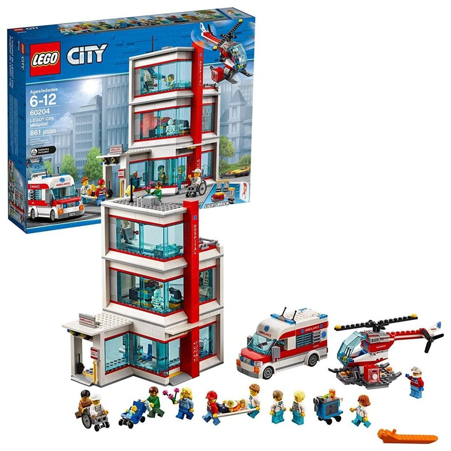 レゴLEGO City Hospital 60204 Building Kit (861 Pieces)