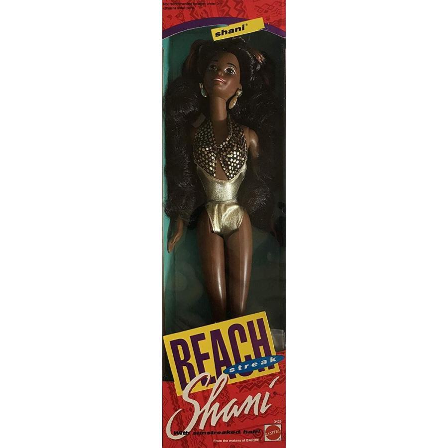 バービーBarbie Beach Streak Shani Doll AA has Sun Streaked Hair & Wears Shimmery ゴールド Tone Bathing Suit (1992)