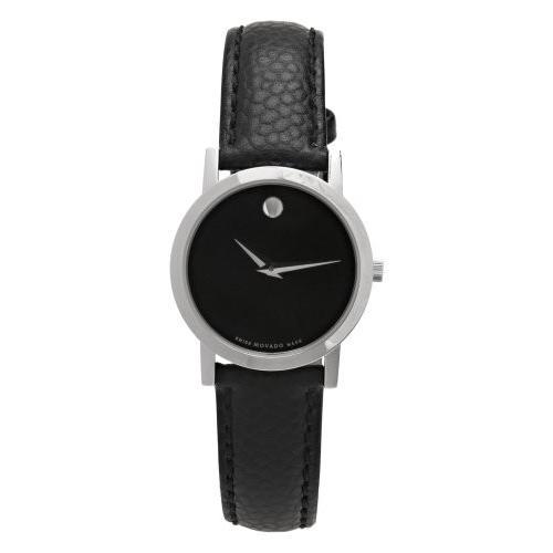 【ふるさと割】 Case diameter-dimension 26 mm Movado Women's 606087 Museum Black Leather Strap Watch, TopIsm メンズ ファッション 通販 0edab10b