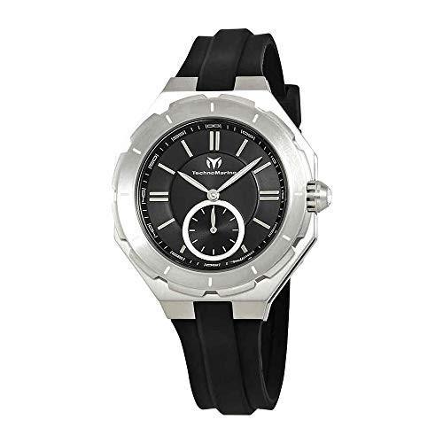 2019人気の Technomarine Women's Cruise Stainless Steel Quartz Watch with Silicone Strap, Black, 17 (Model: TM-118002), お仏壇の一心堂 2518b088