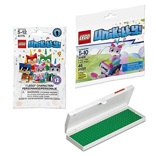レゴLEGO Kitty Friends Block Building Kit Roller Coaster Unikitty Wagon Mini Figure + Compatible Blind Bag Series 1 + Pen & Penc