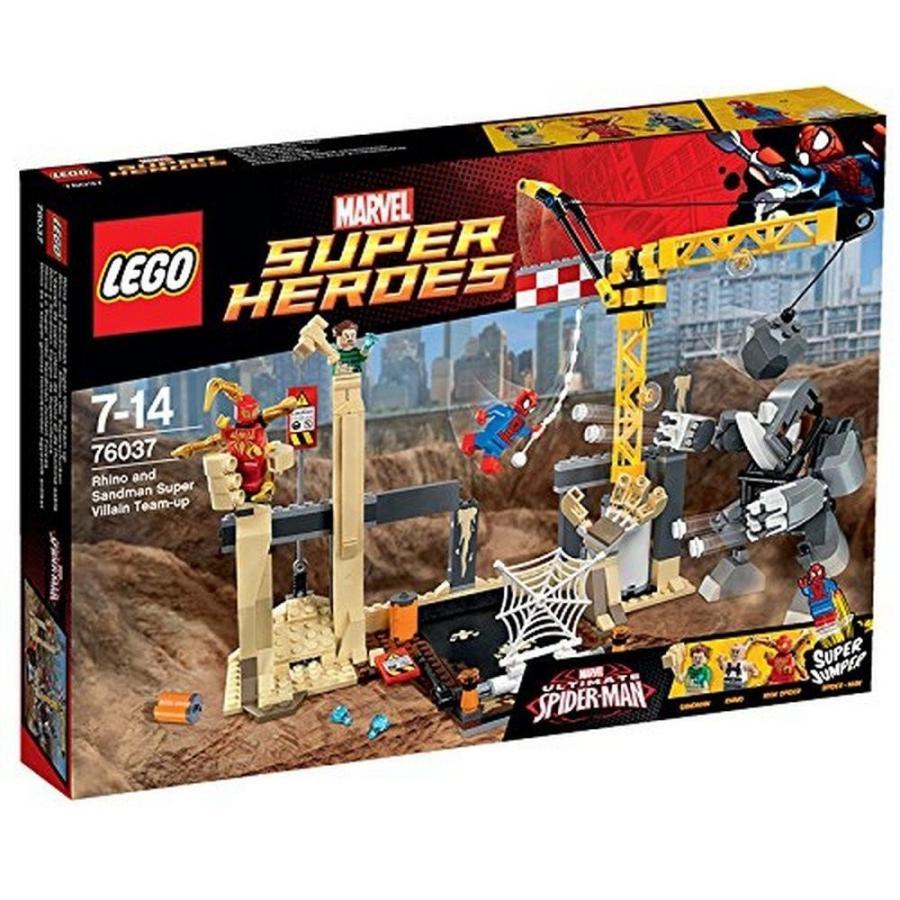 レゴLEGO 76037 Super Heroes Rhino and Sandman Super Villain Team-Up