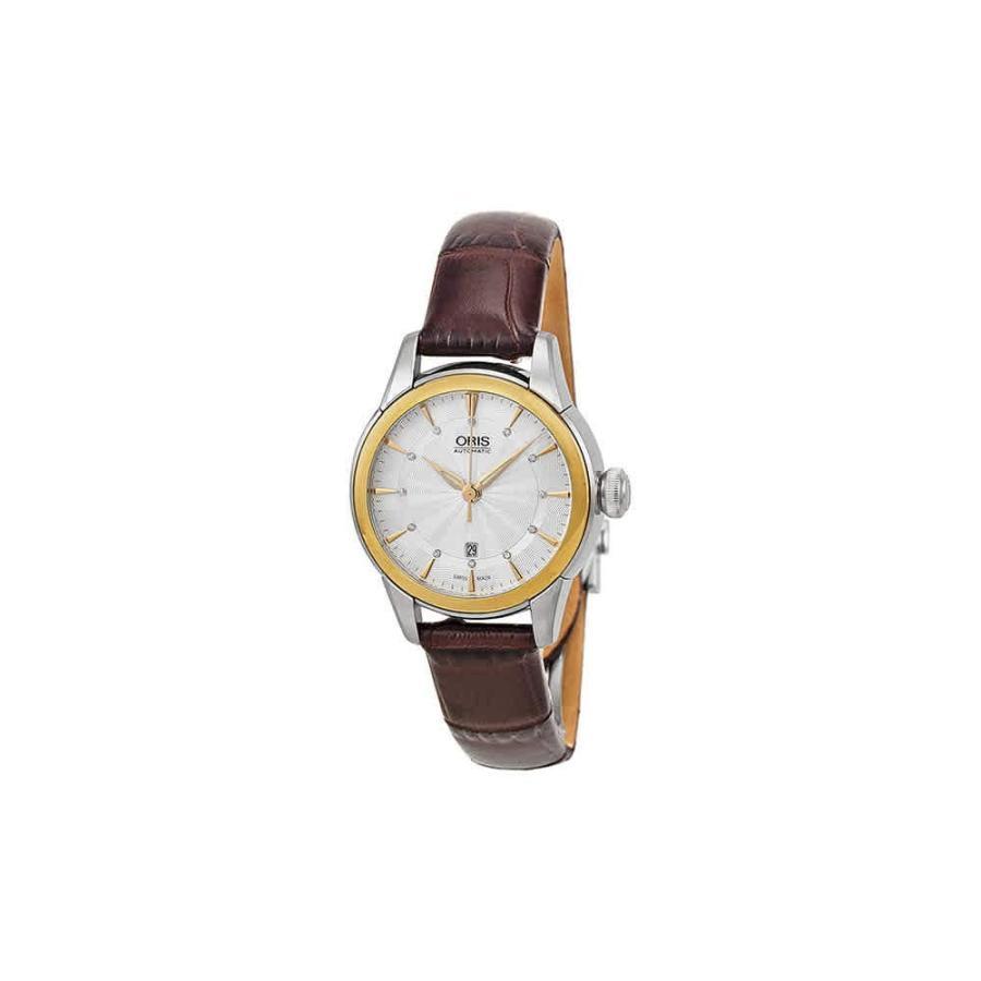 独特な店 Oris Artelier Date Silver Dial Brown Leather Ladies Watch 01 561 7687 4351-07 5 14 70FC, 足寄郡 89159910