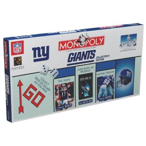 ボードゲームNew York Giants Football Collectors Edition Monopoly Board Game