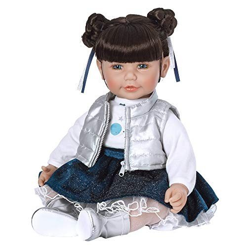 20 inches Adora ToddlerTime Doll Cosmic Girl 20 inch Toddler Baby Doll in CuddleMe Vinyl, Realistic Lifelike Weighted Cloth Body,