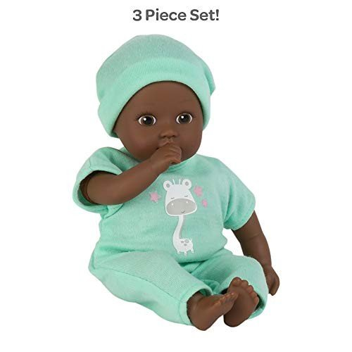 アドラベビードールAdora Soft Baby Doll Boy Baby Tot Gentle Giraffe 8.5 inch Mini Vinyl Doll, Cuddly Weighted Body, 褐色
