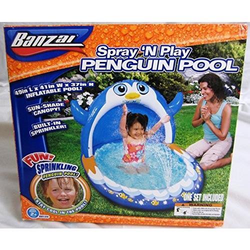 プールBanzai Spray 'N Play Penguin Pool