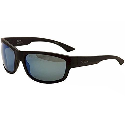 One Size Smith Optics Dover Lifestyle Polarized Sunglasses, Matte 黒/Chromapop 青 Mirror