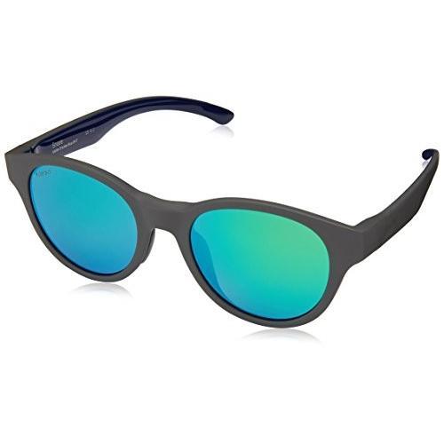 低価格 One Size Smith The Snare Sunglasses Matte Smoke Blue with ChromaPop Polarized Green Mirror Lens, ベッド専門店ハウスアンドオブジェ 5bd99bfd