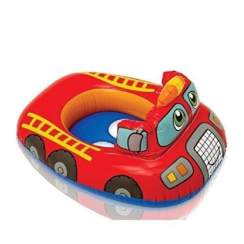 フロートIntex Pool Cruiser 赤 Fire Engine Inflatable Boat Float For Kids And Children