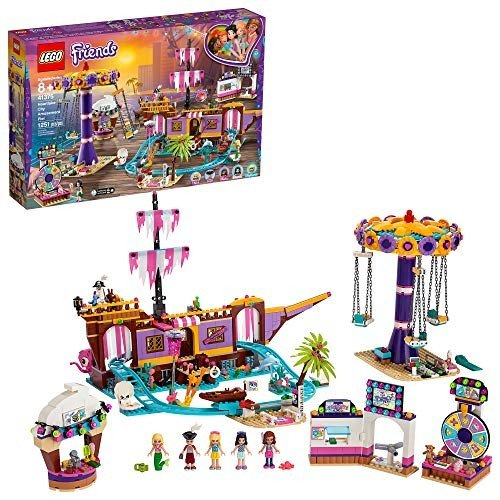 LEGO Friends Heartlake City Amusement Pier 41375 Toy Rollercoaster Building Kitwith Mini Dolls, Toy Dolphin, Build and Play Set In