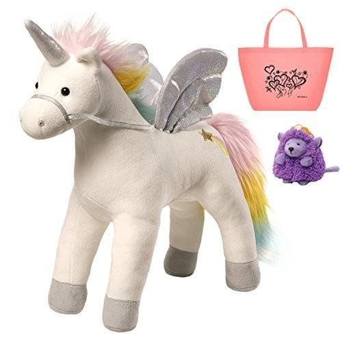ガンドGUND Magical Unicorn Lights & Sound Plush Toy, Beanbag & Tote Bundle Set