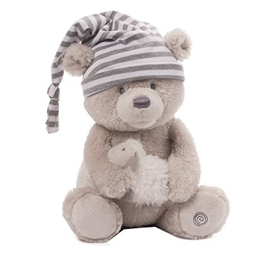ガンドBaby GUND Animated Sleepy Time Teddy Bear Stuffed Animal Plush, 15