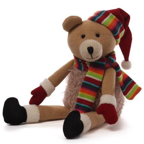 ガンドGUND Christmas Knit Bear Plush, 7.5